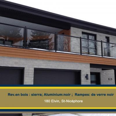 180 Elvin St-Nicéphore rampes en verre