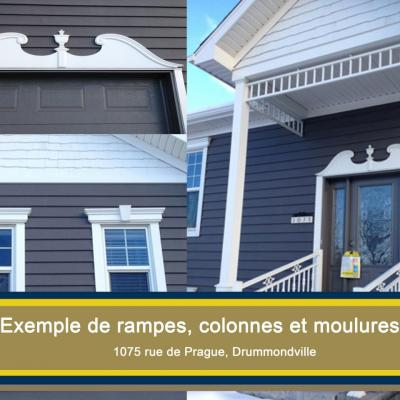 Exemple moulures- rampes-colonnes