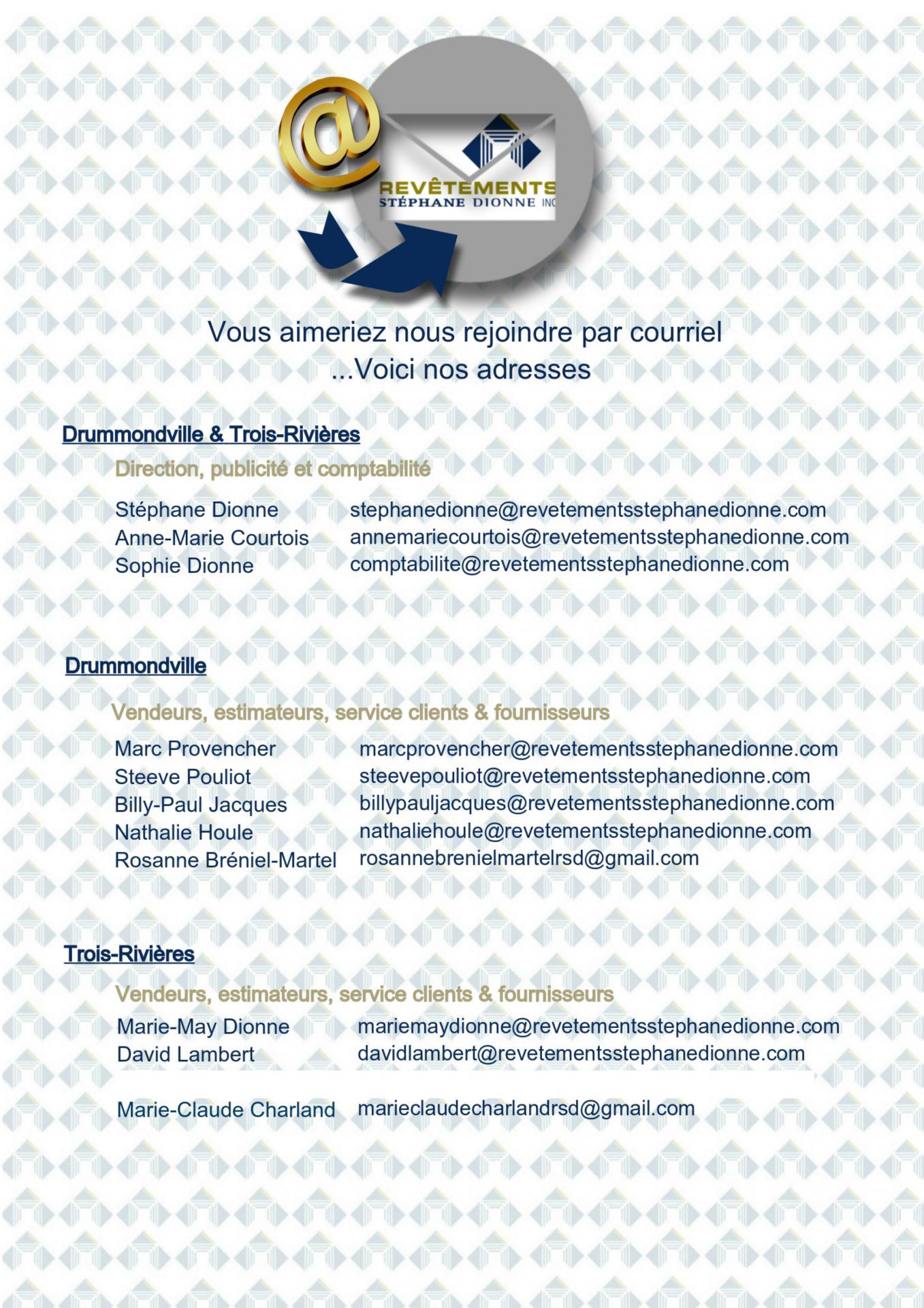 Adresses de courriels MAJ 03 03 2021