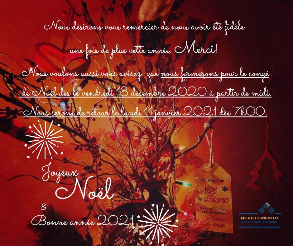 Nous fermerons pour les vacances de Noël du 18 dec midi au 10 janv incl.